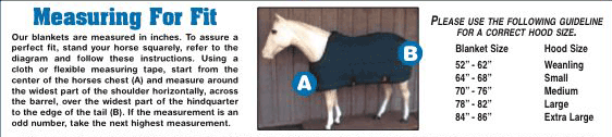 Horse Blanket Measurement Diagram