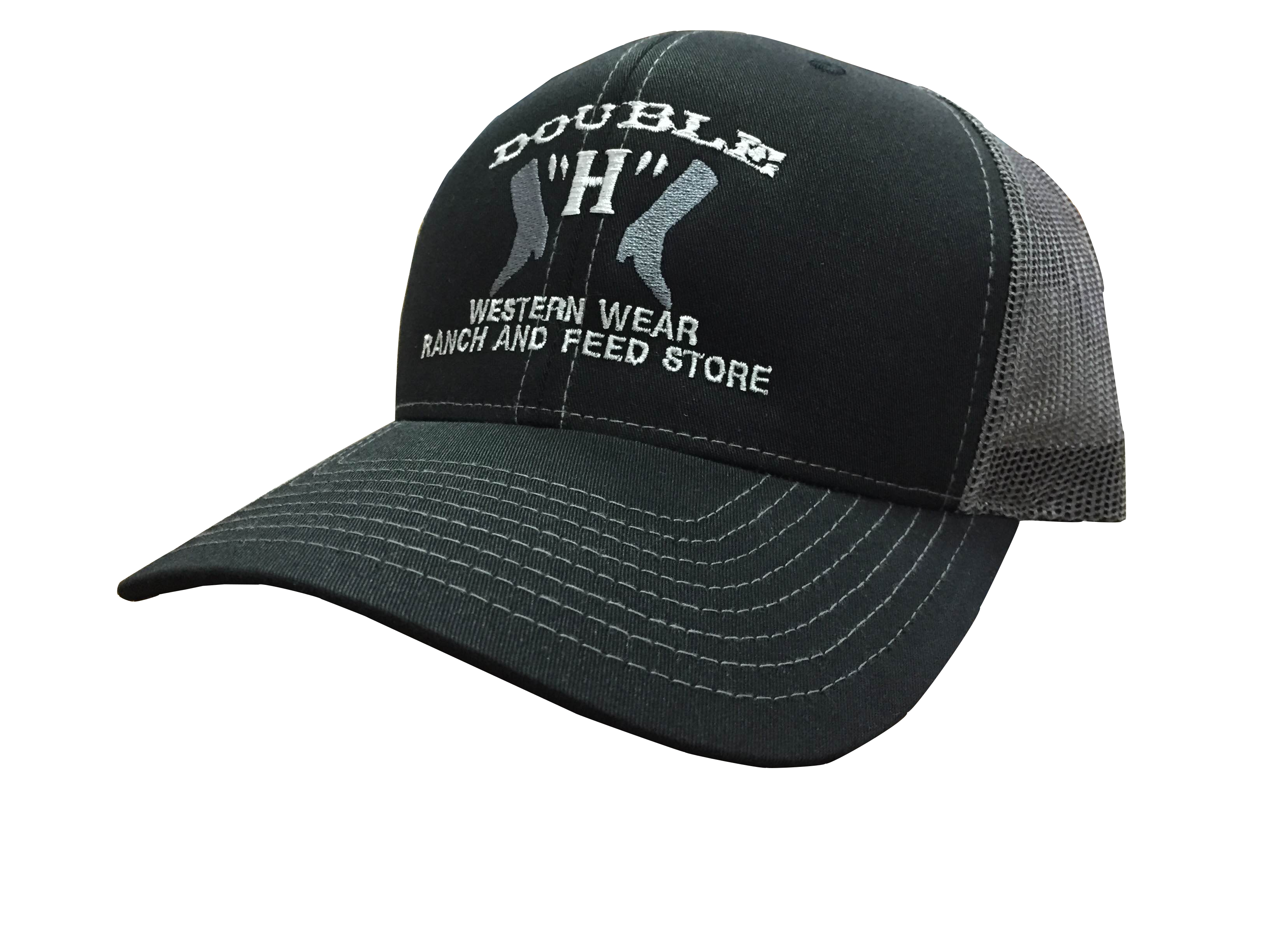 Double  H  Western Wear Black Ball Cap cc5f260eb72