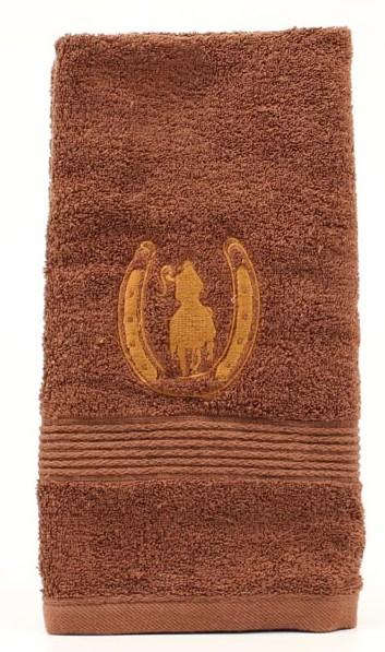 bath_mf_western_hand_towel_horseshoe_rider_brown.jpg