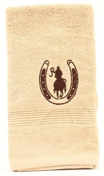 bath_mf_western_hand_towel_horseshoe_rider_tan.jpg