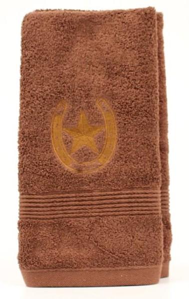 bath_mf_western_hand_towel_horseshoe_star_brown.jpg