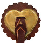 Slotted Brass Heart Conchos