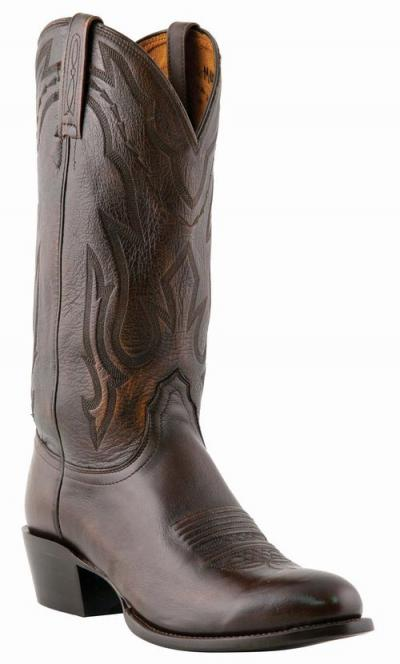 Lucchese Antique Walnut Carson Cowboy Boots