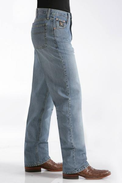 Cinch Black Label Medium Stonewash Relaxed Fit Jean