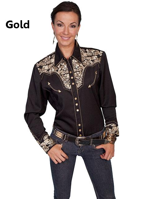 Scully Western Floral Embroidery Shirt 3